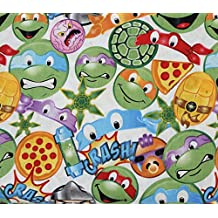 100% Cotton Fabric Quilt Prints Springs Creative Teenage Ninja Turtle Imoji Licensed Sold By The Yard N-Cotton-85-OT