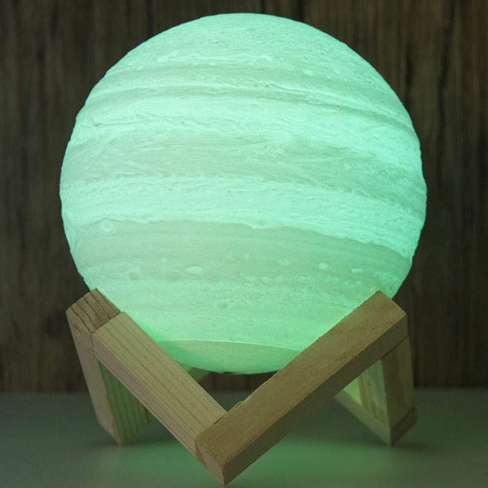 JAY-LONG 3D-Druck Jupiter Lichter, Kreative LED-Nachtlichter, PLA GepräGte Dekoration, Dekoration, Dekoration, USB-Nachttischlampe, Haus Urlaub Dekor Geschenke,20cm B07PZZK4YP | Erste Gruppe von Kunden  74b638
