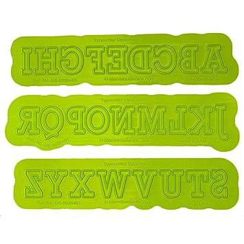 Máquina de escribir mayúsculas flexabet molde por moldes Marvelous