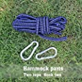 AnnabelZ Double Camping Hammock Parachute Nylon Light Weight Outdoor Hammocks for Camping, Travel & Backpacking