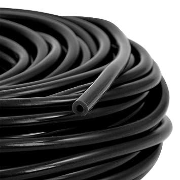 Unterdruckschlauch Innendurchmesser 5 mm schwarz *** Silikonschlauch Vakuumschlauch Schlauch Meterware