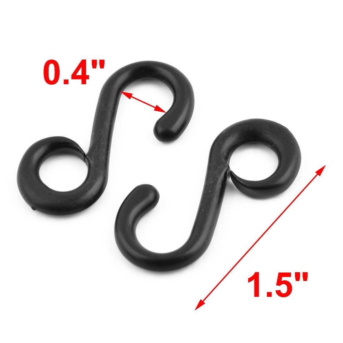 Amazon.com: eDealMax Plástico Forma Bolsa S Correa conectivo de resorte giratorio Anillo ganchos de la Hebilla 12pcs Negro: Home & Kitchen