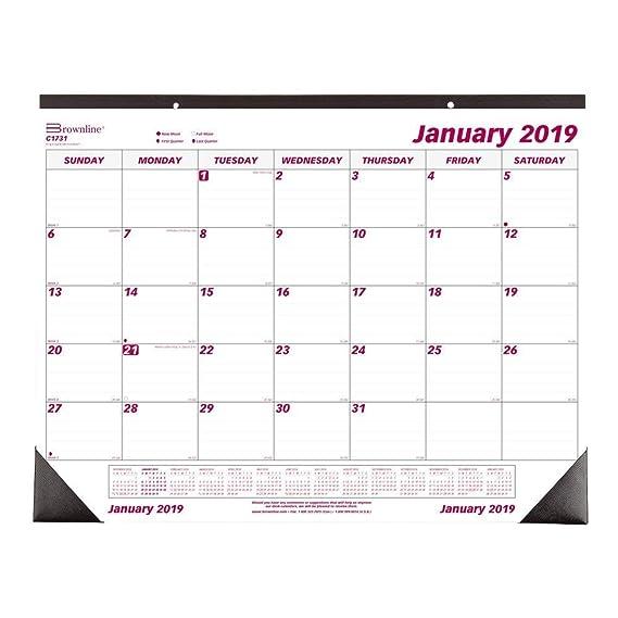 Hawaii Public School Calendar 2020-16 Amazon.: Brownline 2019 Monthly Desk Pad Calendar, 22 x 17