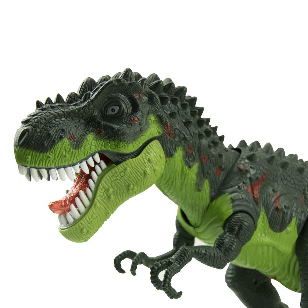 WonderPlay Walking Dinosaur T-Rex Toy Figure with Lights and Sounds Realistic Tyrannosaurus Dinosaur Toys for Kids Battery Operated Green by WonderPlay (Image #8)