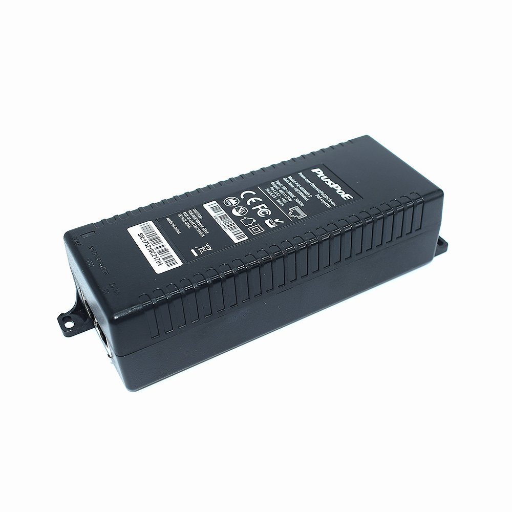 PLUSPOE Gigabit Power over Ethernet Plus (PoE+) Injector, Converts non-PoE Gigabit to PoE+ or PoE Gigabit, 35Watts, Network Distances up to 100 M (328 Ft.) (Gigabit PoE+ / 35W) by PLUSPOE (Image #1)