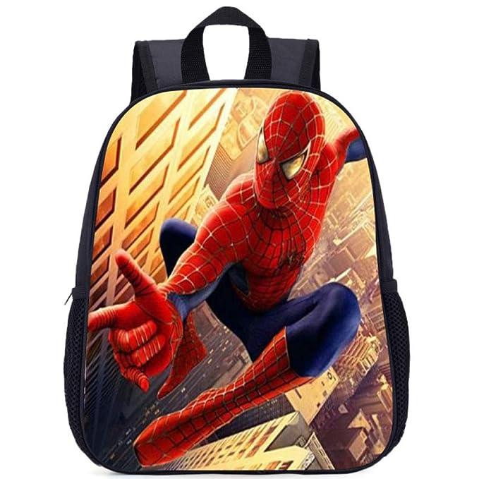 Mochila Escolar Para Niños Adolescentes Ligeros Mochilas 3D Spider-Man Para Niños Y Niñas Bolsas
