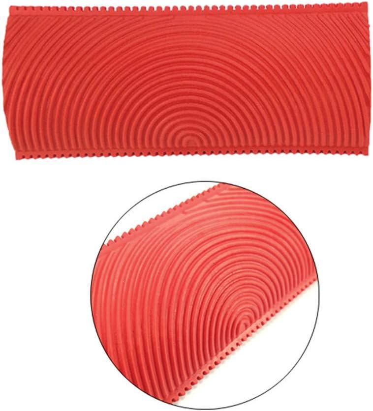 JJDD 7 Inch Empaistic Pattern Roller Painter 2 PCS Wood Graining Painting Tool,Art Wallpaper Imitation Wood Grain Tool,Wall Texture Art Painting Tool Set