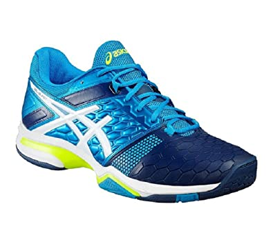 Amazon.com | ASICS Gel Blast 7 Men's Indoor Shoes Blue/White/Yellow ...