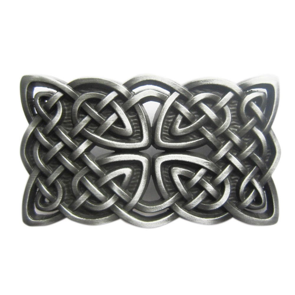 New JEANS FRIEND Original Vintage Cross Celtic Knot Rectangle Belt Buckle