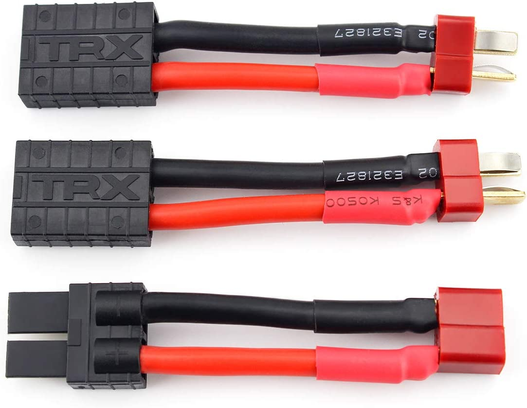 Male T-Plug Deans to Female TRX Traxxas Connector Adapter 1PCS for charger