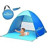 Monobeach Automatic Pop Up Beach Tent Instant Portable Quick Cabana Sun Shelter