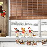 THY COLLECTIBLES Natural Bamboo Roll Up Window