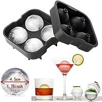 homiki hielo redonda molde correspondientes de hielo 4x 4.5cm placa de cubo de hielo de silicona perfecto para los japonés Whiskey, cócteles y otras bebidas de