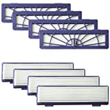 Amyehouse 8-Pack High Performance Filters Accessories for All Neato Botvac Robotics 70e 75 80 85 & D Series D75 D80 D85…