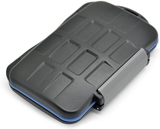 JJC MC-5 funda para tarjeta de memoria 15 tarjetas ABS sintéticos, Caucho, Silicona Negro, Azul, Verde: Amazon.es: Electrónica
