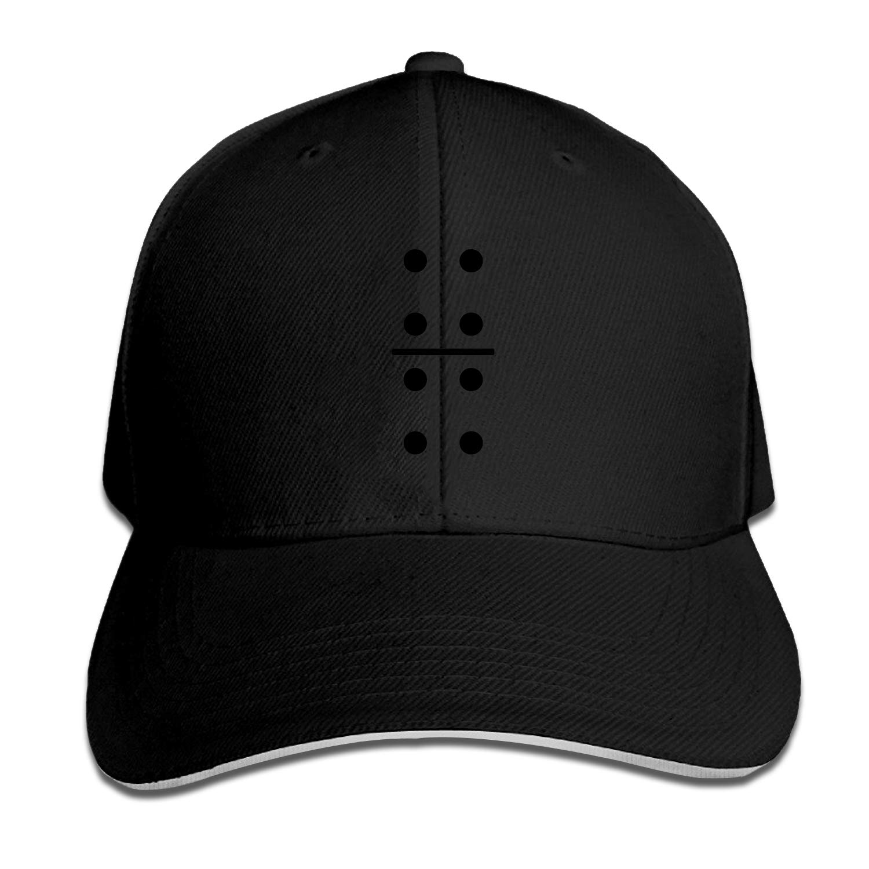XCOZU Mens Caps Domino Tee Snapback Cap Sandwich Peak Trucker Caps Casual Hat for Gifts