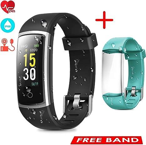 CHEREEKI Fitness Tracker, Orologio Fitness Braccialetto Pressione Sanguigna Cardiofrequenzimetro da Polso Impermeabile IP68 Smartwatch Contapassi