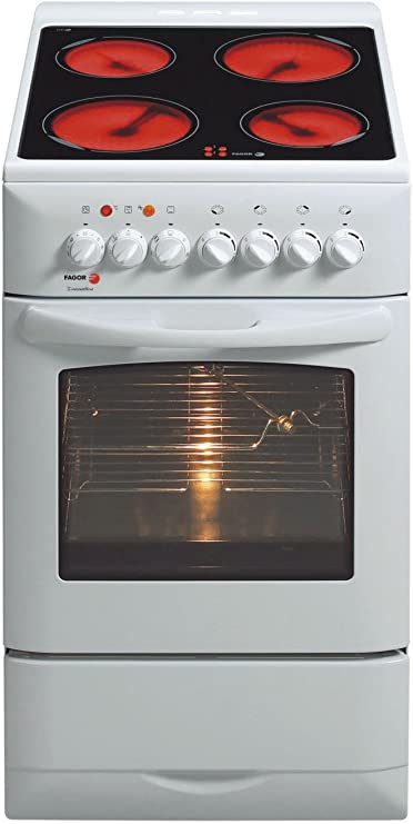 Fagor 4CF-564 V - Cocina (Cocina independiente, Blanco, Botones, Cerámico, Eléctrico, 55 L): Amazon.es: Hogar