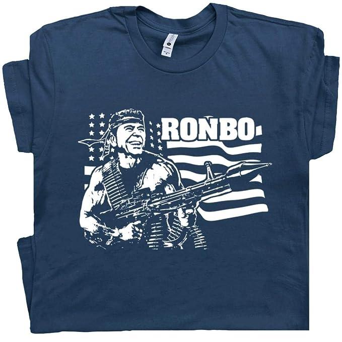 b9febd970 S - Ronald Reagan T Shirt Ronbo Tee Vintage Republican Political 1984  Donald Trump 80s Campaign