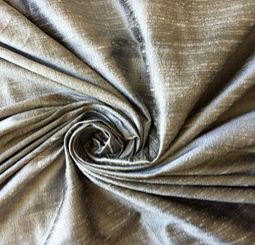 Gray grey 100% dupioni silk fabric yardage By the Yard 45