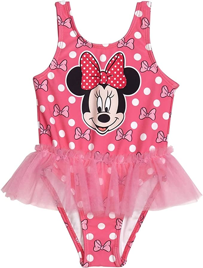 Disney Minnie Mouse Pink//Black Swimwear Tutu Bathing Suit Coverup Size 18 Mo.