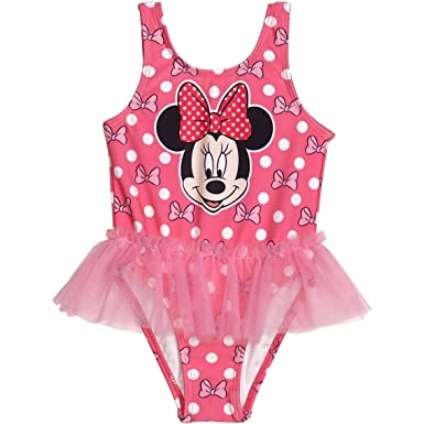 d05780cd4269b Amazon.com  Disney Minnie Mouse Girls Swimwear Swimsuit  (Baby Toddler Little Kid)  Clothing