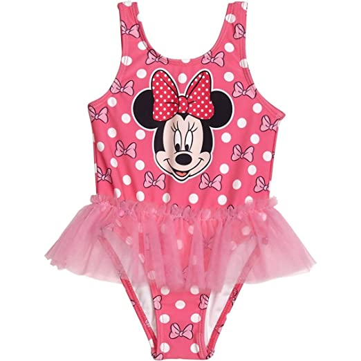 08b713d91a Amazon.com: Minnie Mouse Girls Swimwear Swimsuit (2T, Pink): Clothing
