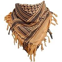 LIOOBO algodón árabe Bufanda Abrigo Desierto Cuello Cuadrado Chal Cabeza para Mujeres y Hombres al Aire Libre otoño Invierno cálido (Negro)