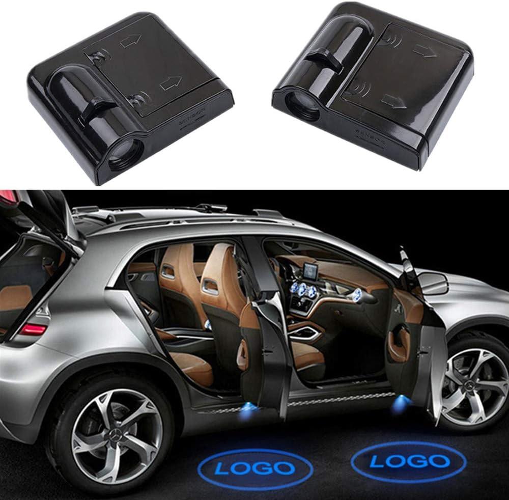 HosDevice Proyector l/áser para Puerta de Coche luz de cortes/ía inal/ámbrica para Puerta de Coche para Mazda Ford Audi BMW Skoda Volvo Seat Fiat Suzuki 2pcs-for Audi