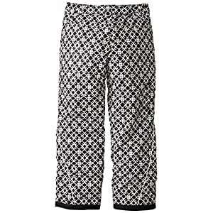 Columbia Girl's Bugaboo Pants, Black Print, X-Large