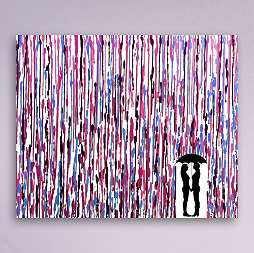 Lesbian Wedding, Girl Wedding Gift, Girl Couple Gift, Melted Crayon Art, LGBT Art 16x20'' by Fem By Design