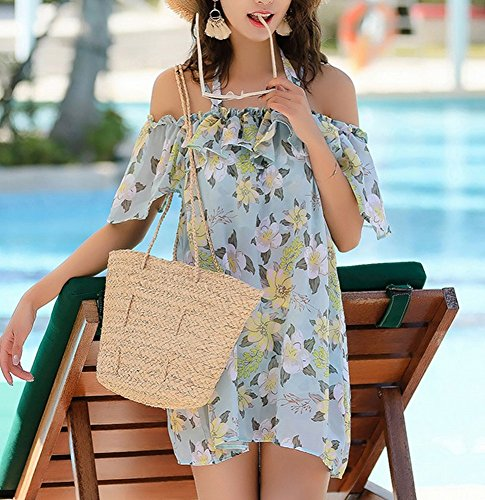 Da Skirt Swimsuit Beach Pezzi Camicetta verde Donna In Homee Chiffon Tre Costumi A m Conservatore Bagno fBIRwqqHx