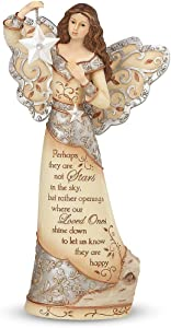 Pavilion Gift Company Elements 9-Inch Sympathy Angel Holding Star, Stars in The Sky