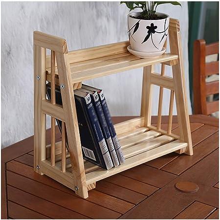 &Macetero Soporte de Flores Creativo Escalera de Madera Maciza Escritorio Rack de exhibición de Dos Niveles Cocina Almacenamiento en el hogar Rack Locker Macetas Decorativas (Color : A): Amazon.es: Hogar