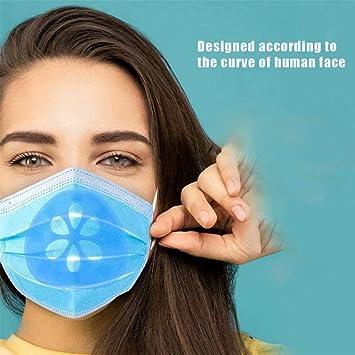 Maschera di stoffa fatta in casa Staffa in silicone fresco 3D Pi/ù spazio per respirazione confortevole Lavabile riutilizzabile Surfilter 10PCS Trasparente Maschera Telaio di supporto interno