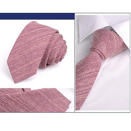 HYhy Fashion Corbata Delgada de algodón para Hombre, para Boda ...