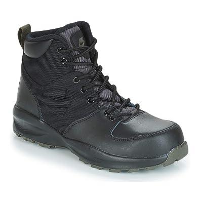 new concept 8d06e 5afc4 Nike Manoa Black Black-Newsprint (GS) (5 M US Big Kid