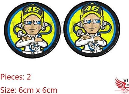 VITCIK Adhesivos para Cascos de Moto calcoman/ías Logo calcoman/ías para Motos calcoman/ías de Vinilo