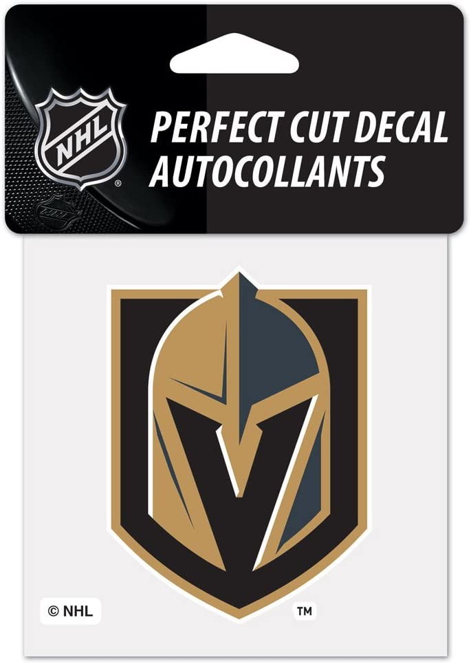 WinCraft NHL Vegas Golden Knights 4x4 Perfect Cut Color Decal, One Size, Team Color
