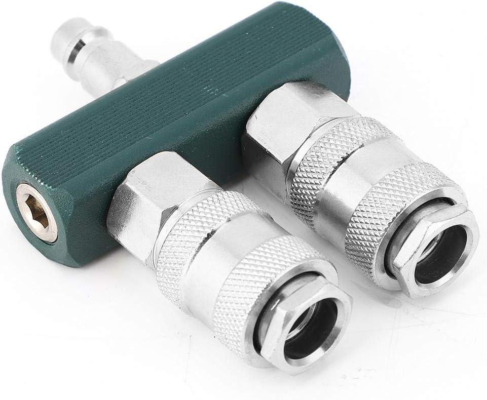 V/álvula ajustable Conector hembra-macho Conector de compresor Conector r/ápido recto de dos v/ías de 1//4 pulgada