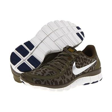 Nike Women s Free 5.0 V4 Medium Olive Dark Loden Brave Blue Metallic Silver 57506fe4c