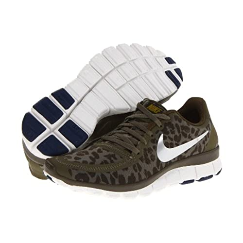 6ee08f2672057 Nike Women s Free 5.0 V4 Medium Olive Dark Loden Brave Blue Metallic Silver  12 B - Medium  Amazon.co.uk  Shoes   Bags