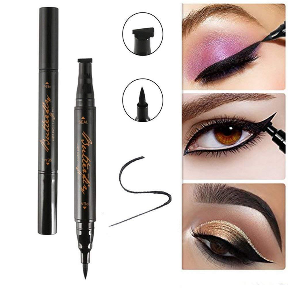 DierCosy Winged eyeliner stamp black waterproof long-lasting eyeliner pen watermark stamp easy for wings or cat eye makeup tools BeautyMisc