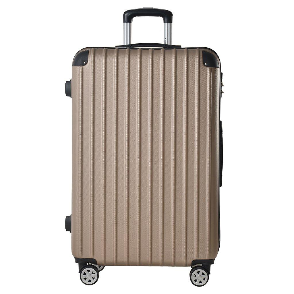 TANOBI 春先の スーツケース キャリーケース キャリーバッグ 6色3サイズ 超軽量 エンボス加工 双輪 B07BXX3QJW L(82L)|ゴールド ゴールド L(82L)