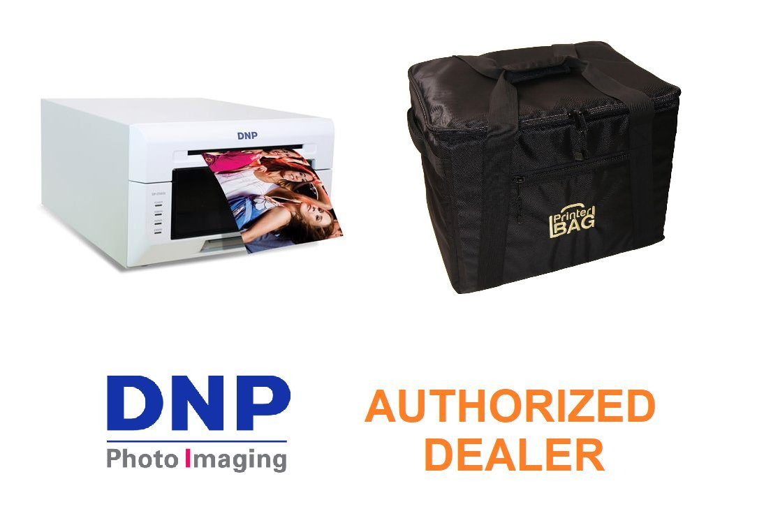 DNP DS620A Photo Printer with 3 YEAR WARRANTY! Bundle with our exclusive PRINTERBAG CARRYING CASE (handbag version). Great for carrying your printer, media, paper, cables and more! (DNP DS 620A)