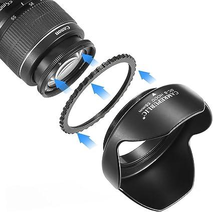 58 mm de pétalos de cámara Parasol para Canon EOS EFS 18 – 55 mm ...