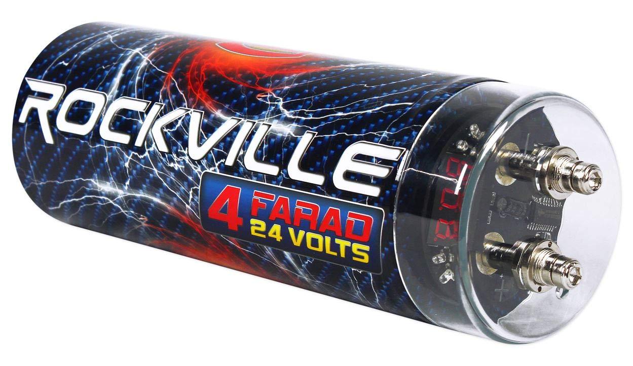 Rockville 4 Farad Digital Car Capacitor}