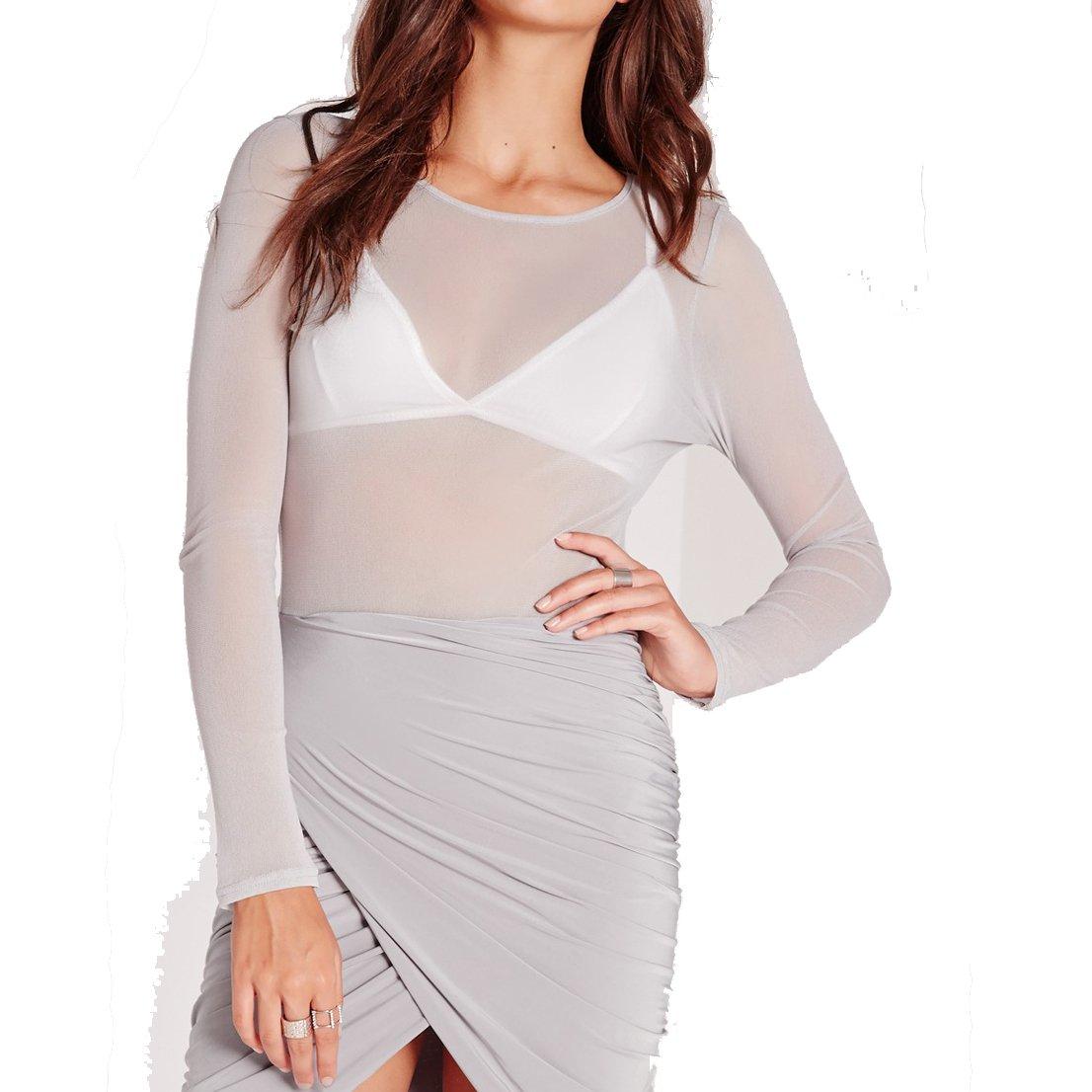 Cheapcotton Women's Mesh Long Sleeve Top