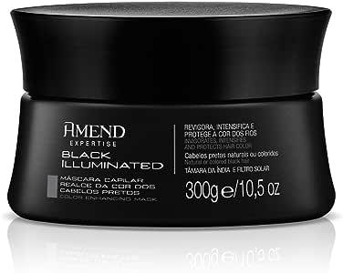 Máscara Realce da Cor Black Illuminated, Amend, Preto Perolado, 300 g