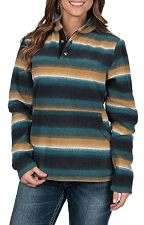 073cb41b Outback Trading Company Women's Striped Audrey Fleece Henley at ...